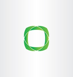 stylized green square frame icon vector image vector image