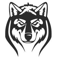 wolfs heads vector image vector image