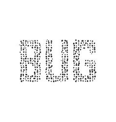 black simple bug text vector image