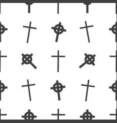 halloween seamless pattern tomb cross vector image vector image