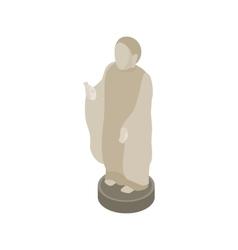 Japanese Buddhist monk icon isometric 3d style vector image