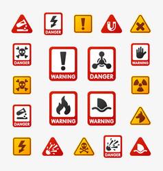prohibition signs set industry production vector image vector image