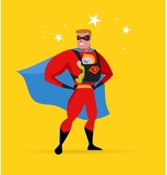 Superhero daddy superhero costume baby carrier vector image vector image