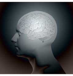 Abstract Human Head with a Brain vector image