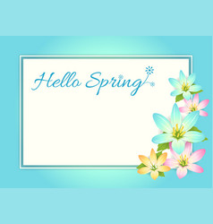 hello spring card banner or poster background vector image vector image