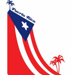 Puerto rice flag vector image