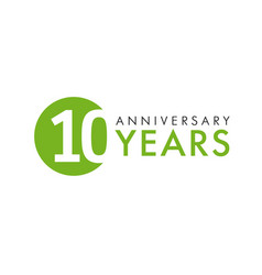 10 years logo concept vector