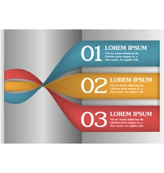 3D Spiral Infographics Options Banner vector