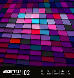Abstract multicolored tiles materials purple vector