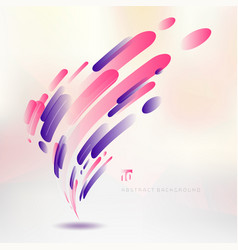 abstract technology pink and purple geometric vector image