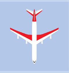 Airbus departure runway international white vector