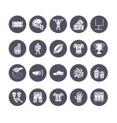 american football rugby flat glyph icons vector image