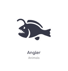 Angler icon isolated angler icon from animals vector