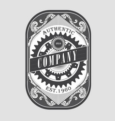 antique steampunk label vintage frame retro vector image