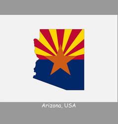 Arizona map flag vector