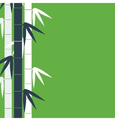 Bamboo stems background vector image