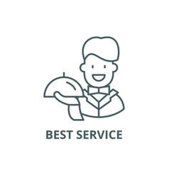 best service line icon best service vector image