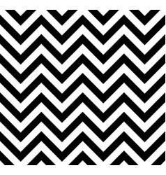 black and white chevron retro decorative pattern vector image