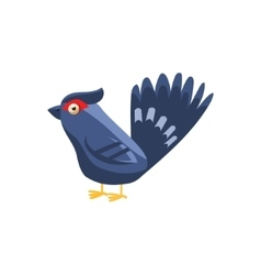 Black Grouse Simplified Cute vector