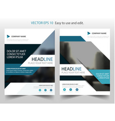 blue abstract annual report brochure flyer design vector image