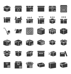 Box and parcel icon for business pixel perfect vector
