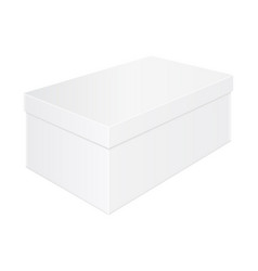 box mockup shoes packaging white template vector image