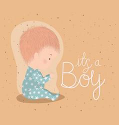 Boy cartoon bashower concept design vector