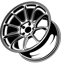 Car wheel 6 vector
