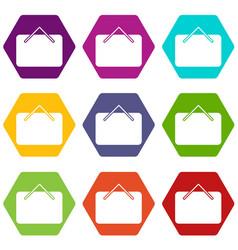 card black friday icons set 9 vector image