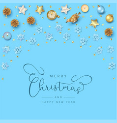 christmas top view background vector image