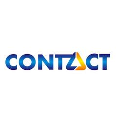 contact logo emblem vector image