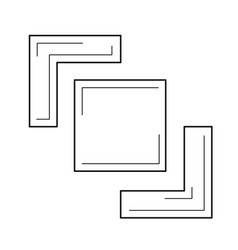Crop image line icon vector