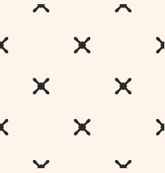 Cross seamless pattern x pattern vector