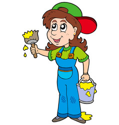 cute house painter vector image
