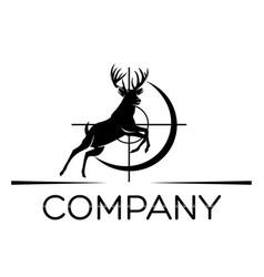 Deer hunting logo vector