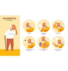 dementia people infographics mental illness vector image