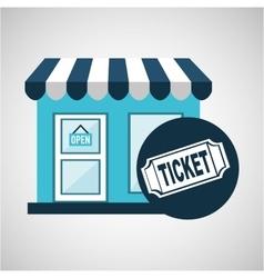 e-commerce store building ticket icon design vector image