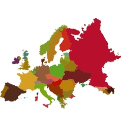 Europe map vector image