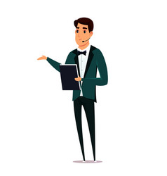 Event host flat vector