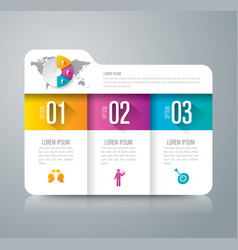 folder infographics design with 3 options vector image