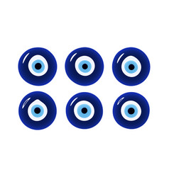 Glass islamic greek amulet evil eye protection vector