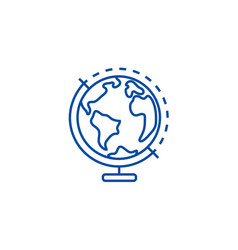 globus line icon concept globus flat vector image