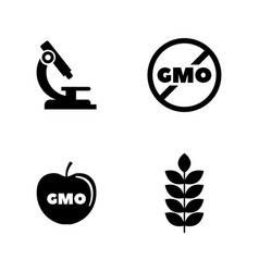 gmo simple related icons vector image
