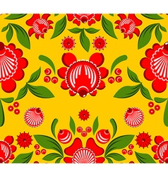 Gorodets seamless pattern Floral ornament Russian vector