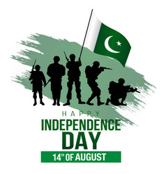 Happy independence day pakistan pakistan army vector