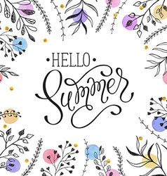 Hello Summer greeting cerd vector image