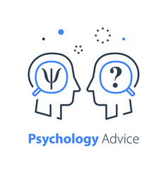 Human head profile psychology vector