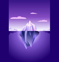 Iceberg ultra violet wallpaper vector
