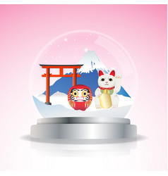 japan snow globe vector image