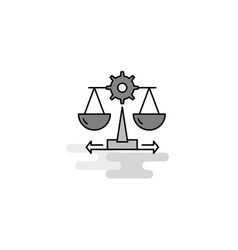 justice web icon flat line filled gray icon vector image
